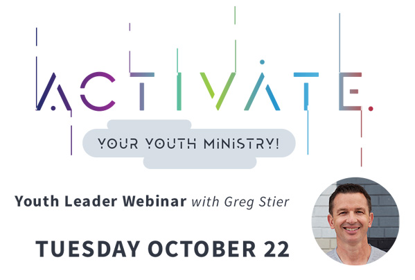 Activate Your Youth Ministry Webinar - Oct 22